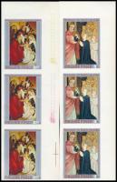 1970 Festmények IX. vágott sor ívszéli 3-as csíkokban (10.500) / Mi 2633-2639 imperforate stripes of 3