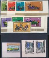 1970-1971 3 klf vágott kiadás (14.000) / 3 different imperforate issues