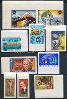 1970 9 klf ívszéli/ívsarki vágott bélyeg (13.500) / 9 different imperforate stamps