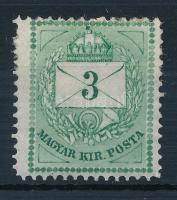 1874 3kr gyöngyjavítással (ex Lovász)