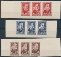1949 Sztálin ívszéli hármascsíkok a kilences tömbökből (16.000)