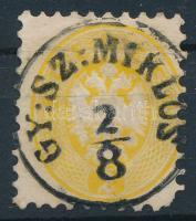 1864 2kr GY:SZ:MIKLÓS rövid sarokfog