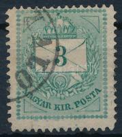 1874 3kr durva-finom gyöngyjavítással (ex Lovász)