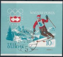 1964 Téli olimpia vágott blokk (6.000)