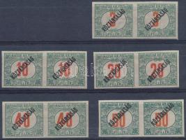 1919 Köztársaság portó 3f-50f 5 érték párokban