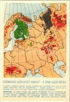 A finnugor népek; a Sugurahvaste Instituut (Rokonnépek Intézete) kiadása / Suomalais-Ugrilaiset Kansat / Finno-Ugric language family map