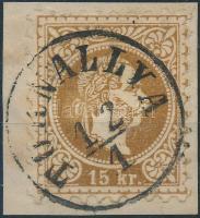 1867 15kr T(ORN)ALLYA (Gudlin 350 pont)