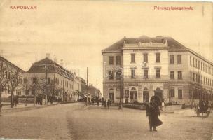1911 Kaposvár, Pénzügyigazgatóság, Húscsarnok, Hagelman Károly üzlete, rendőr (kis szakadás / small tear)