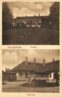 1909 Kálmáncsa, Gróf Széchenyi István kastélya és tiszti laka. Divald Károly fia (EK)