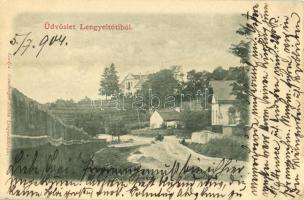 1904 Lengyeltóti, utcakép, Zichy kastély. Günsberger Zoltán kiadása