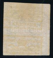 "1kr HP Ib yellow ocher, printed on both sides ""PESTH"" Certificate: Strakosch, 1kr HP Ib sárgás okker, kétoldali nyomat! ""PESTH"" Certificate: Strakosch"