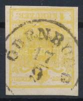 "1kr MP III yellow ""ODENBURG"" Certificate: Strakosch, 1kr MP III citromsárga ""ODENBURG"" Certificate: Strakosch"