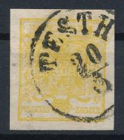 1kr MP III yellow, gemaschtes papier