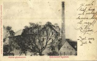 1902 Igal, Anna gőzmalom. Gerő Zs. kiadása (felszíni sérülés / surface damage)