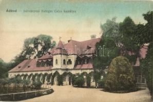 1918 Ádánd, Bálványosi Satzger Géza kastélya