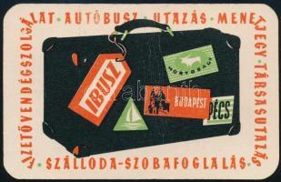 1959 IBUSZ reklámos kártyanaptár