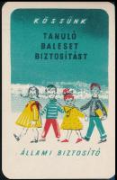 1959 Állami Biztosító reklámos kártyanaptár