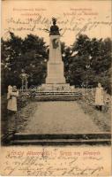 1904 Alkenyér, Zsibotalkenyér, Unterbrodsdorf, Sibot; Kenyérmezői ütközet emlékszobra / Siegesdenkmal Schlact am Brodfelde / military monument