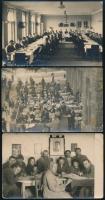 cca 1910-1950 Vegyes fotólap tétel, 6 db, 9×14 cm