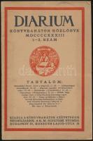 1933 Diárium évfolyamának 1. száma.