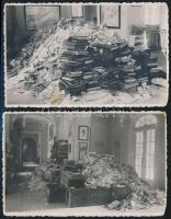 cca 1945 Keszthely, háborús pusztítás, 2 db fotólap, 9×14 cm