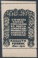 1914 Kossuth Ferenc levélzáró, RR!