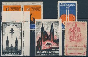 1903-1938 6 klf régi magyar levélzáró