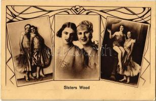 Sisters Wood circus acrobats. Art Nouveau