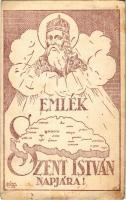1930 Emlék Szent István Napjára! / Hungarian irredenta art postcard s: C. Kíesel (EK)