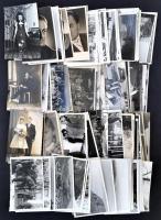 cca 1930-1980 Vegyes fotó tétel: portrék, családi életképek, utazások, városok (budai Vár, Isztambul, stb.), stb., egy részük hátulján feliratozva, összesen kb. 150 db, 9×14 cm