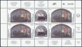 1988 Karácsony kisív, Christmas mini sheet Mi 2575-2577