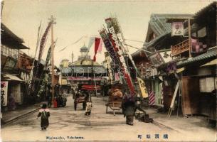 Yokohama, Nigiwaicho, street view with shops (EK)