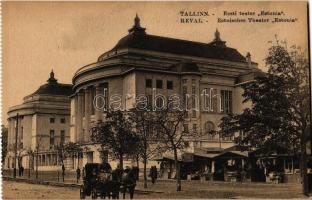 Tallinn, Reval; Eesti teater Estonia / Estonian theatre Estonia, market kiosks