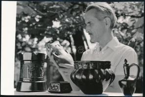 1972 dr. Pandy István, feliratozott sajtófotó, 12×18 cm