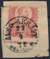 1871 Réznyomat 5kr ALSÓ-ÁBRÁNY / BORSOD M. (Gudlin 250 pont)