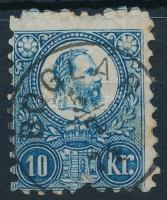 1871 Réznyomat 10kr BOGLÁR (Gudlin 150 pont)