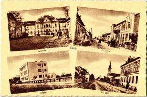 Csap, Cop, Chop; Állomás, Főutca, iskola / railway station, main street, school