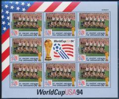 Labdarúgó-világkupa 1994, USA hiányos kisív sor, duplákkal, Football World Cup 1994, USA not complete mini sheet set, some twice