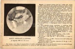 Catania, Marte Osservato. R. Osservatorio Astrofisico / Mars from the Astrophysical Observatory