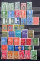 Europa CEPT használt gyűjtemény, kb 220 db bélyeg A4-es berakóban + néhány állat sor és blokk, közte postatiszták is / Eurupa CEPT ca. 220 used stamps in stockbook + some Animal sets and blocks, included MNH pieces