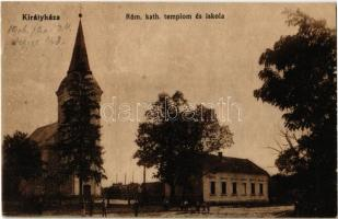1916 Királyháza, Koroleve; Római katolikus templom és iskola / Catholic church and school