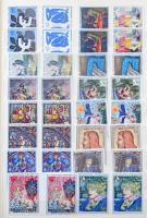 Festmény motívum kb 500 db bélyeg és 11 blokk A4-es berakóban, főleg francia, spanyol, andorrai és monacói kiadások / Painting motif ca. 500 stamps and 11 blocks in stockbook, mostly French, Spanish, Andorra and Monaco issues