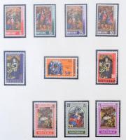 Karácsony motívum kb 200 db bélyeg és 20 blokk, főleg postatiszta darabok / Christmas motif ca. 200 stamps and 20 blocks, mostly MNH pieces