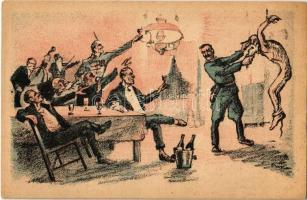 Mulat a kormányzó. Fehérterror Magyarországon. Verlag der Arbeiter-Buchhandlung / White Terror in Hungary, left-wing propaganda card s: Bíró