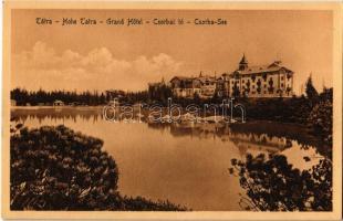 Tátra, Magas Tátra, Vysoké Tatry; Csorbai tó, szálloda / Strbské pleso / Csorba See / High Tatras, lake, hotel