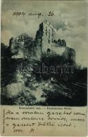 1904 Pozsonyborostyánkő, Stupavsky Podzámok, Borinka; Borostyánkő vára. Wiesner Alfréd kiadása / Pajstúnsky hrad / Paulensteiner Ruine / castle ruins