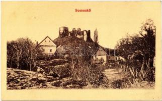 1909 Sátorosbánya, Siatorská Bukovinka; Somoskői vár. W. L. (?) 78. Kiadja Friedler Ármin / Hrad Somoska / castle