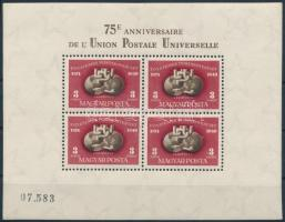 1950 UPU blokk luxus minőség (140.000)