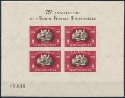1950 UPU vágott blokk, jó minőségű (140.000)