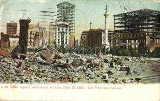 1910 San Francisco (California), Union Square surrounded by ruins April 18, 1906, after the earthquake (EK)